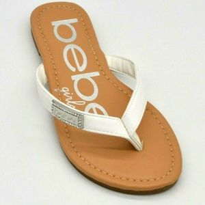 bebe Girls Thong Sandals US Size 1 New